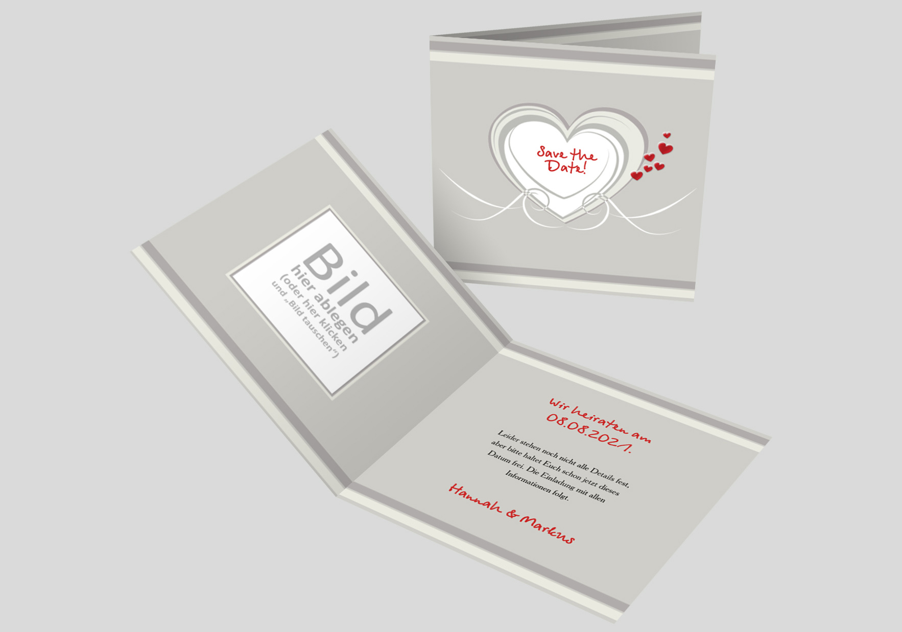 Save-the-Date Karte Hochzeit Hochzeitsherz