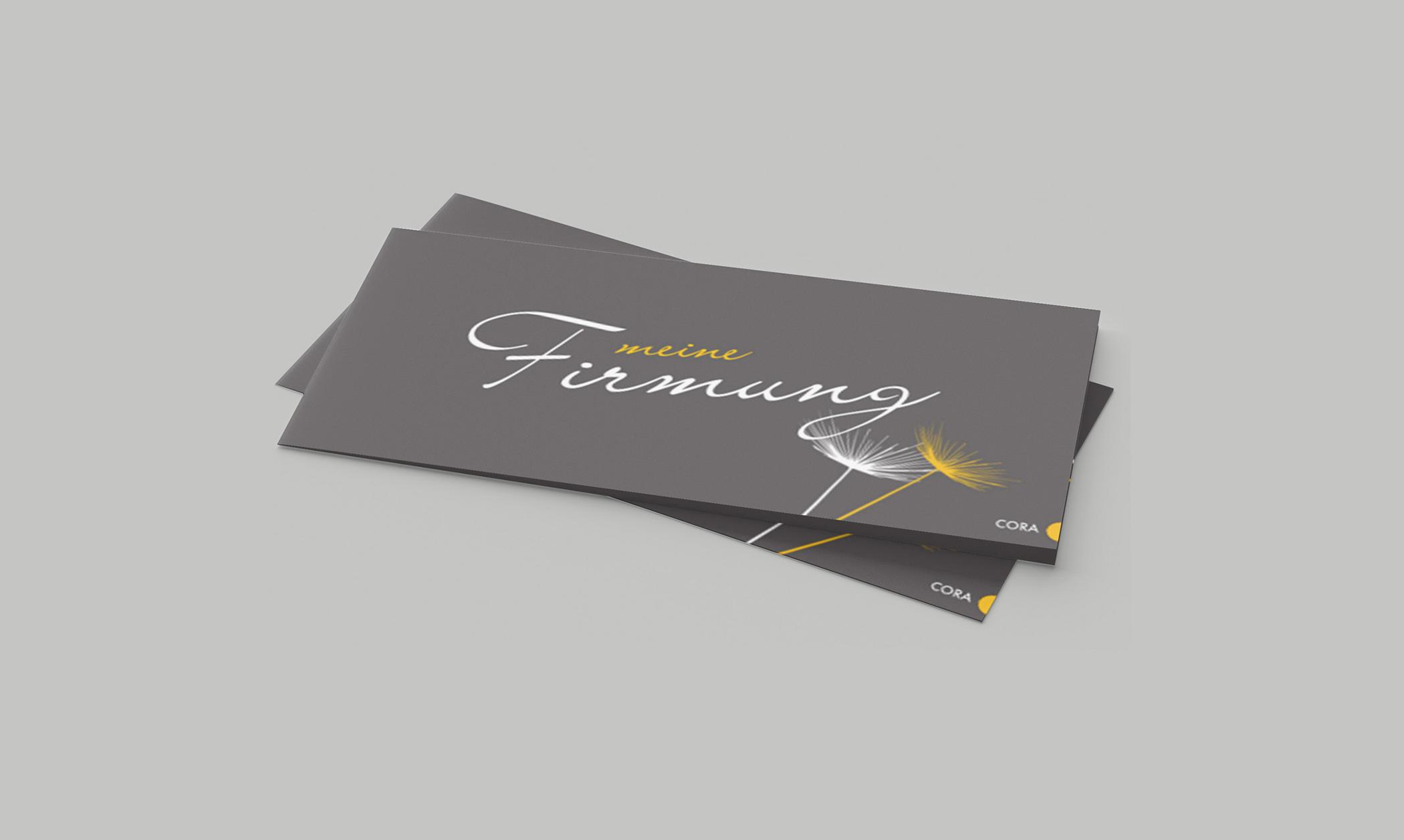 Einladungskarte Firmung Farbenfrohe Schatten