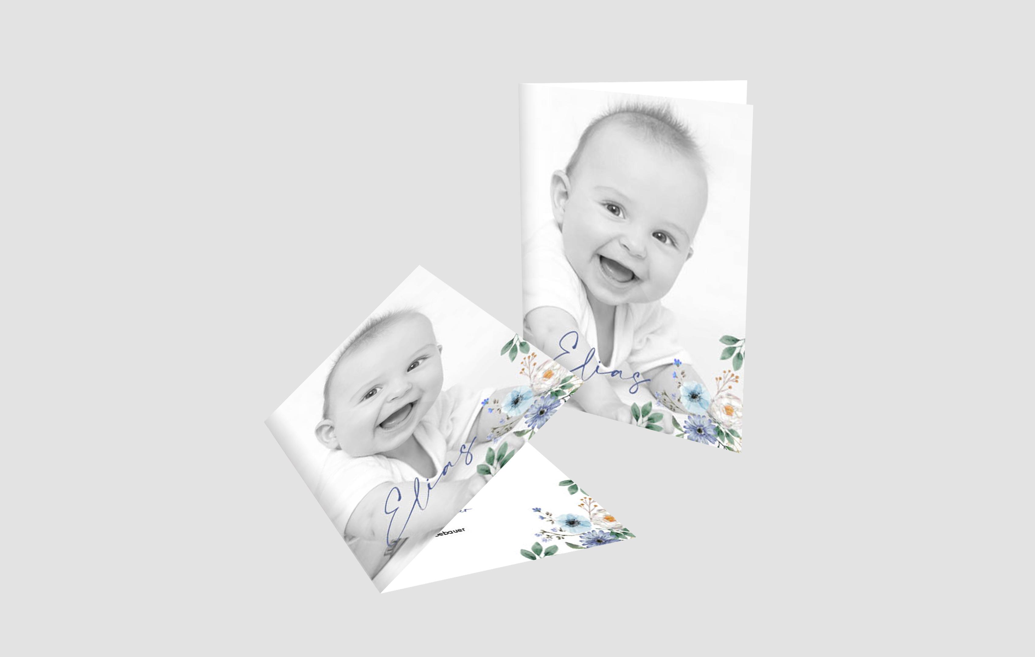 Babykarte Be a flower