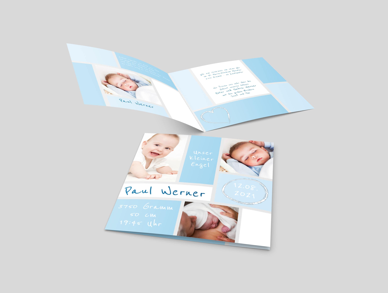 Babykarte Bildblöcke
