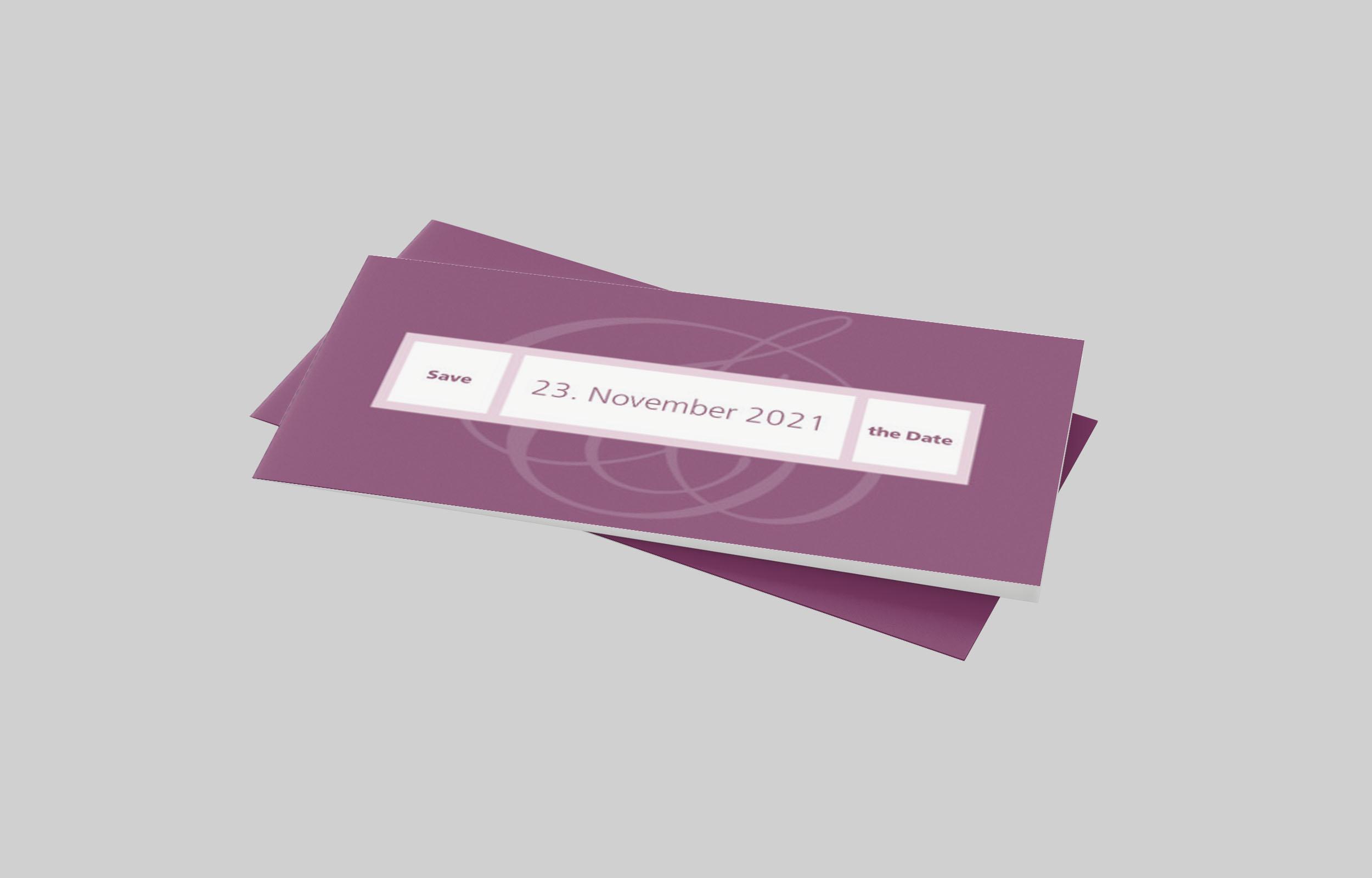 Save the Date Karte Silberhochzeit Gradlinig und Fein