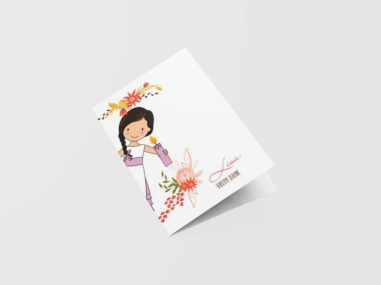 Danksagungskarte Kommunion Illustration
