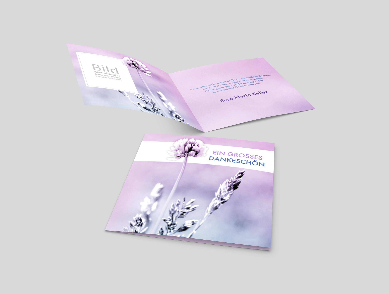 Dankeskarte Firmung Kleeblüte
