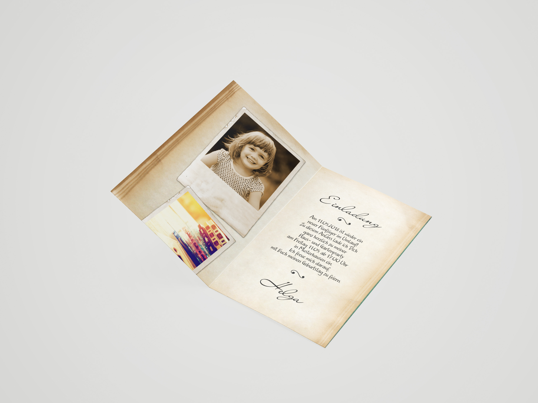 Einladungskarte Geburtstag Fotoalbum