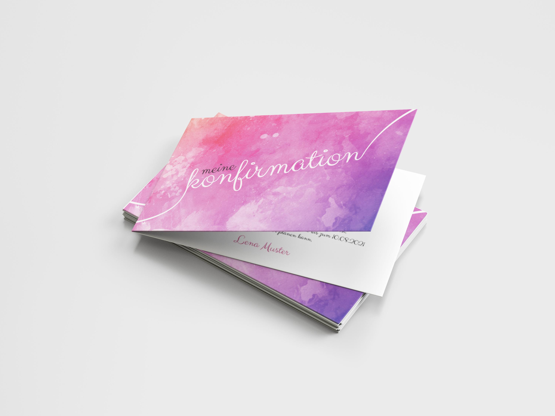 Einladungskarte Konfirmation Handschrift Sprenkel