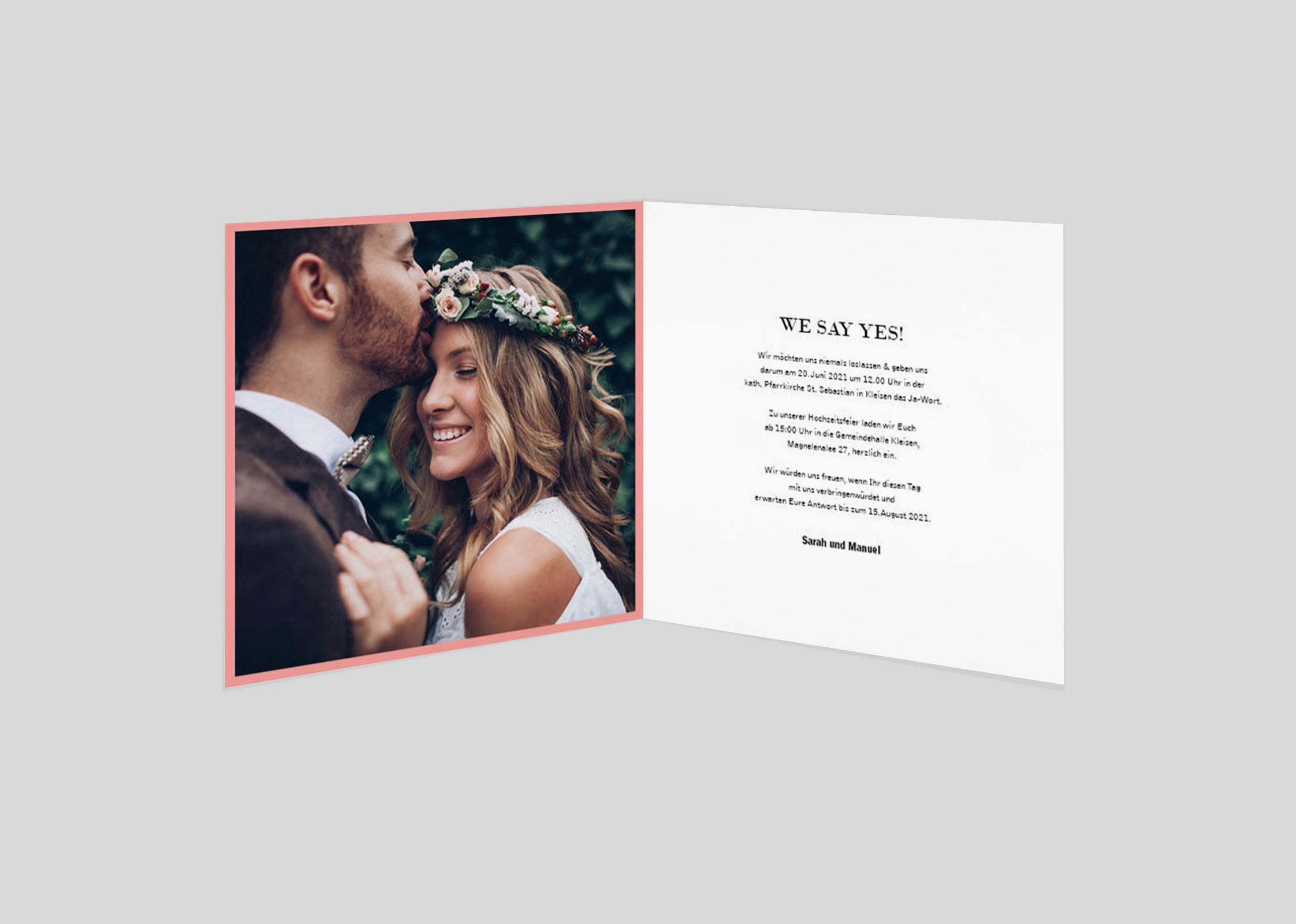Einladungskarte Hochzeit We say yes