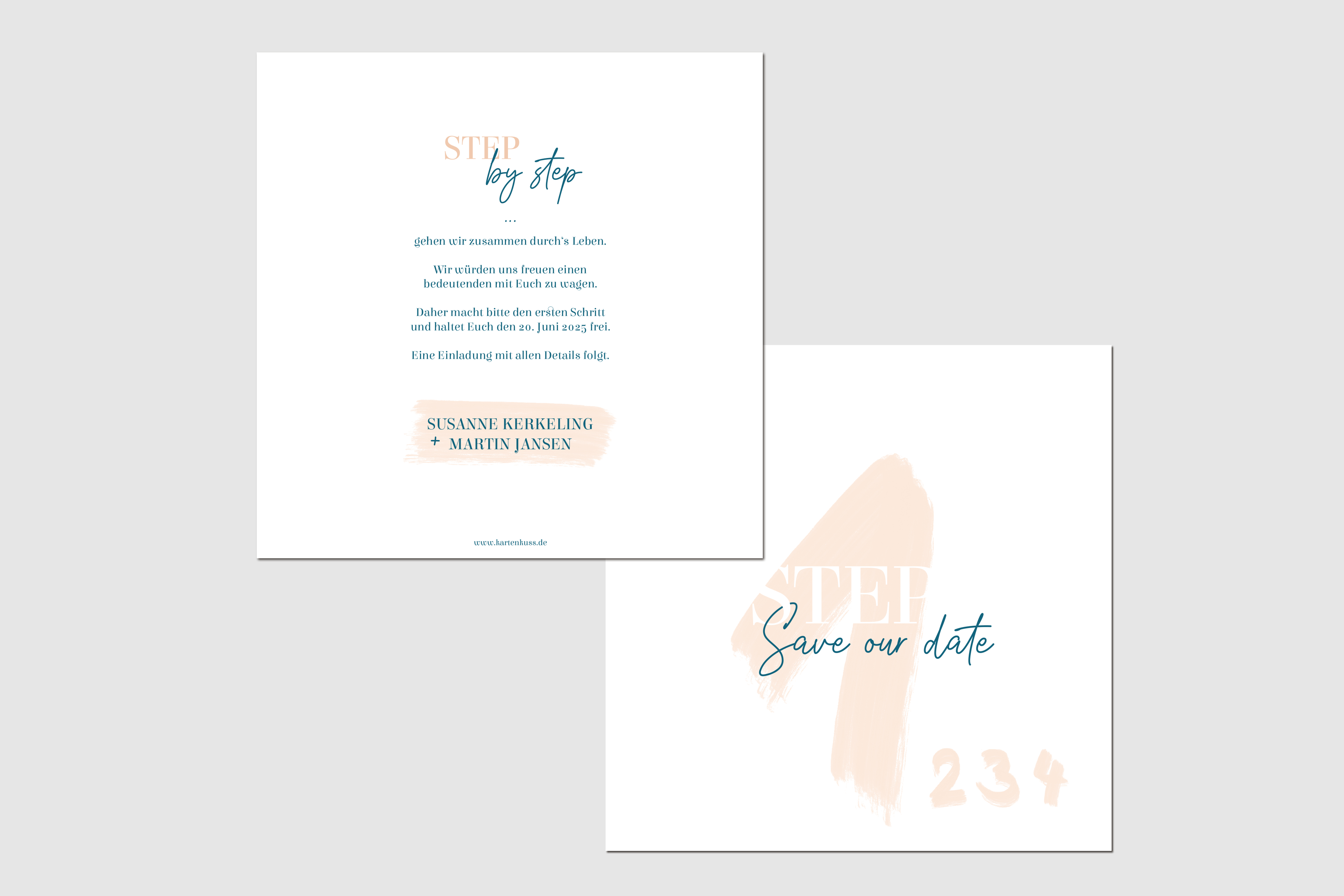 Save the Date Hochzeit Step by Step