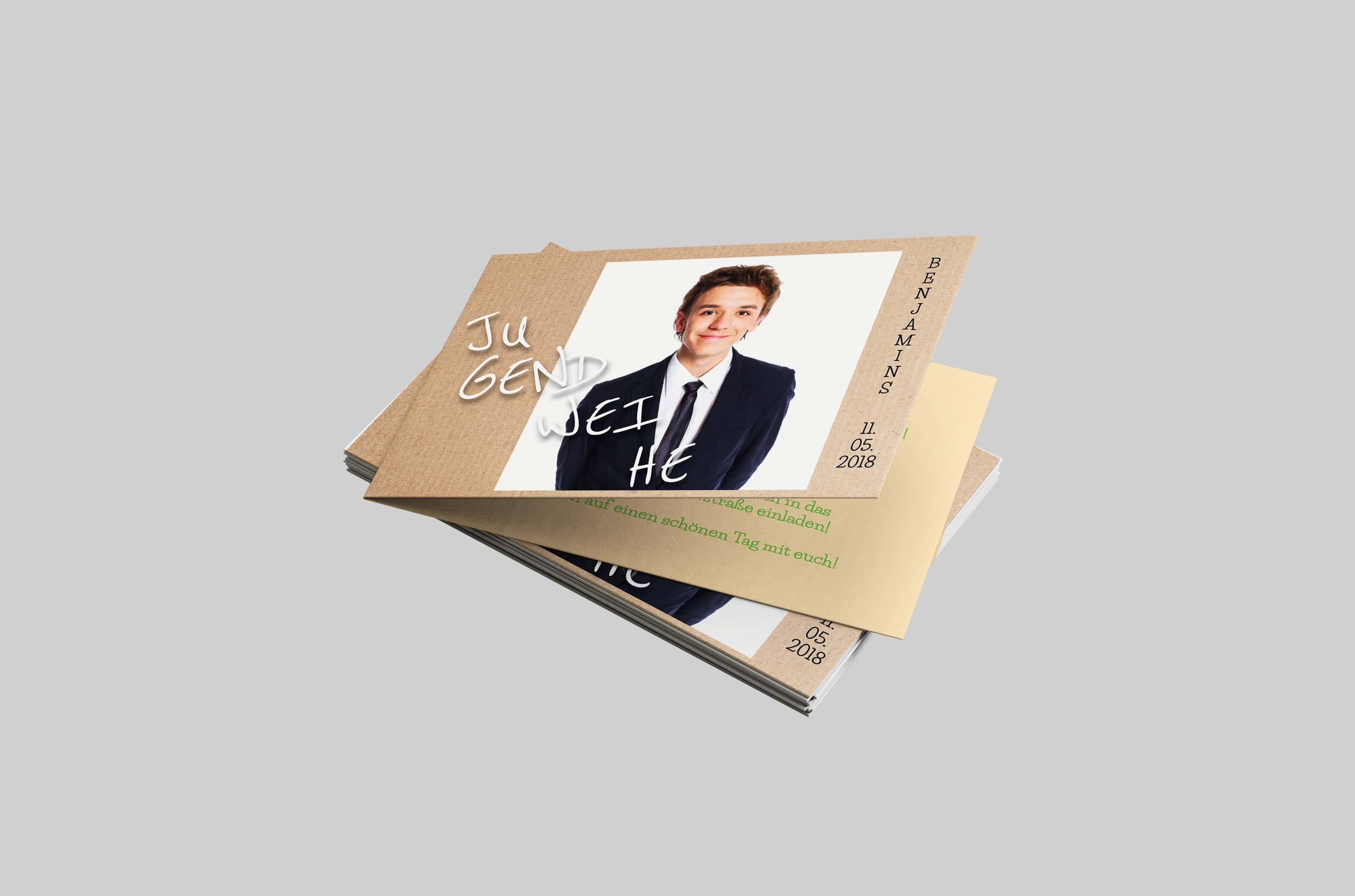 Einladungskarte Jugendweihe Karton