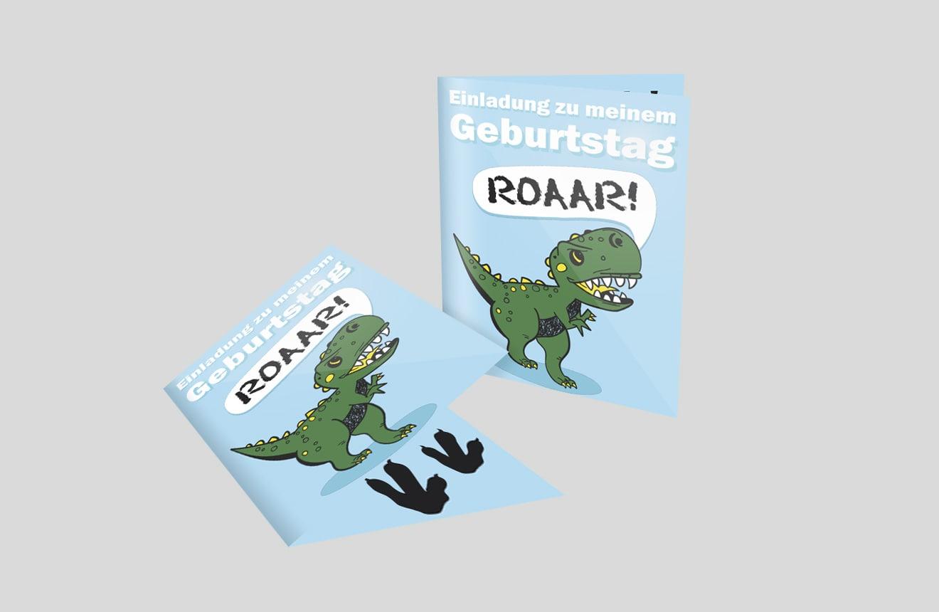 Kindergeburtstagseinladung Dinosaurier
