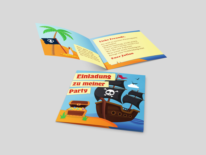 Kindergeburtstagseinladung Piratenschatz