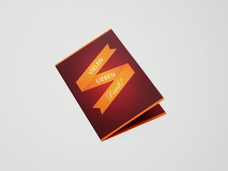 Dankeskarte Firmung Banderole