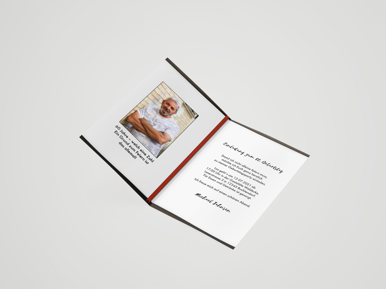 Einladungskarte Geburtstag Notizbuch