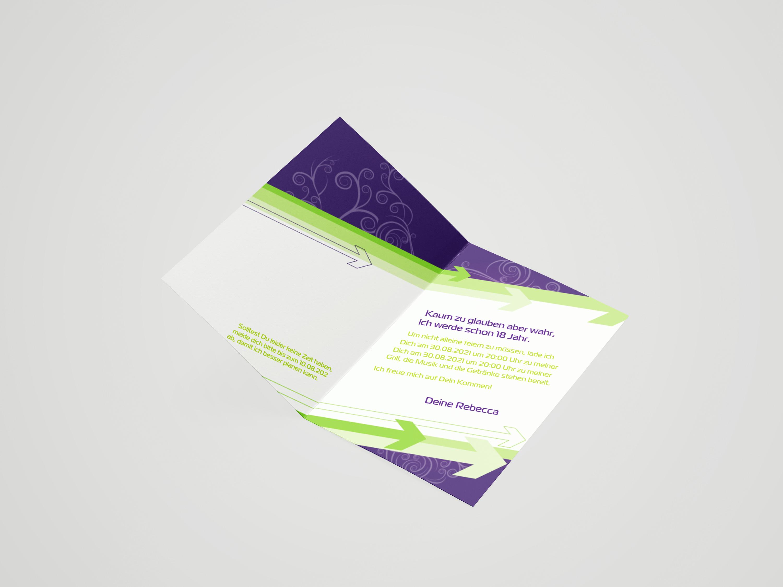 Jugendweihe *Einladungskarten*5 Stück*Klappkarte mit Umschlag  Pfeile
