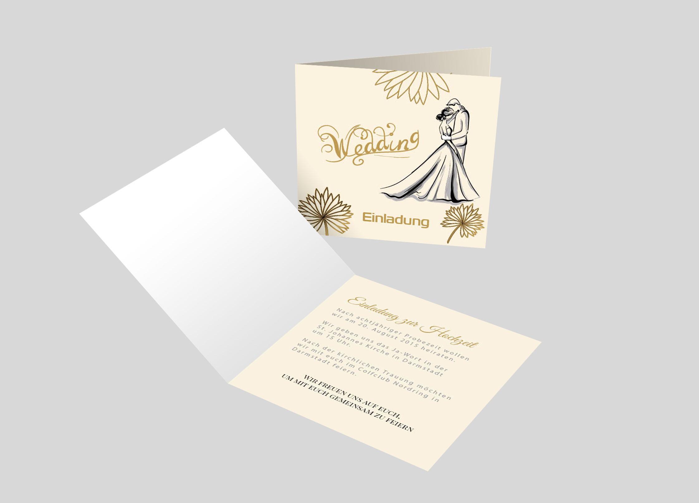 Hochzeitseinladung Hochzeitspaar