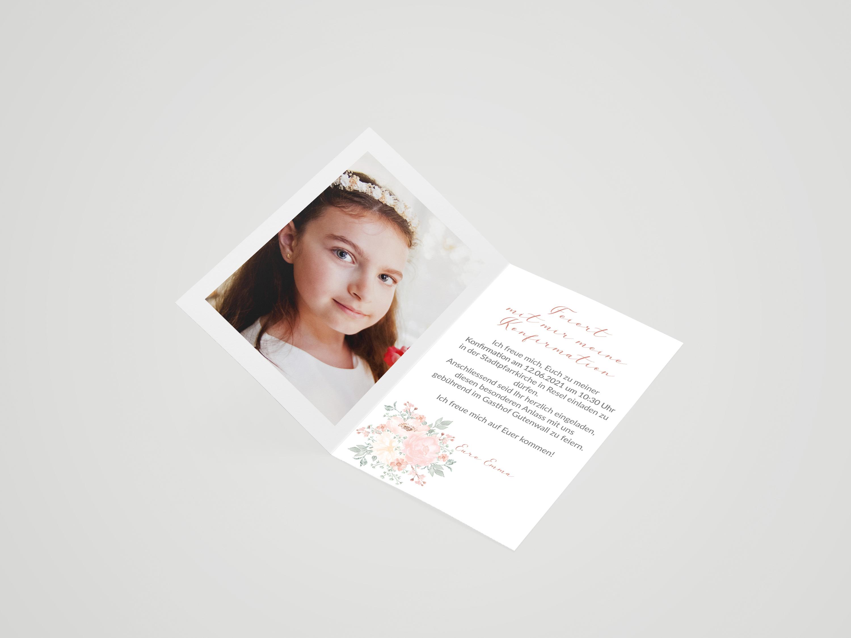 Einladungskarte Konfirmation Luna