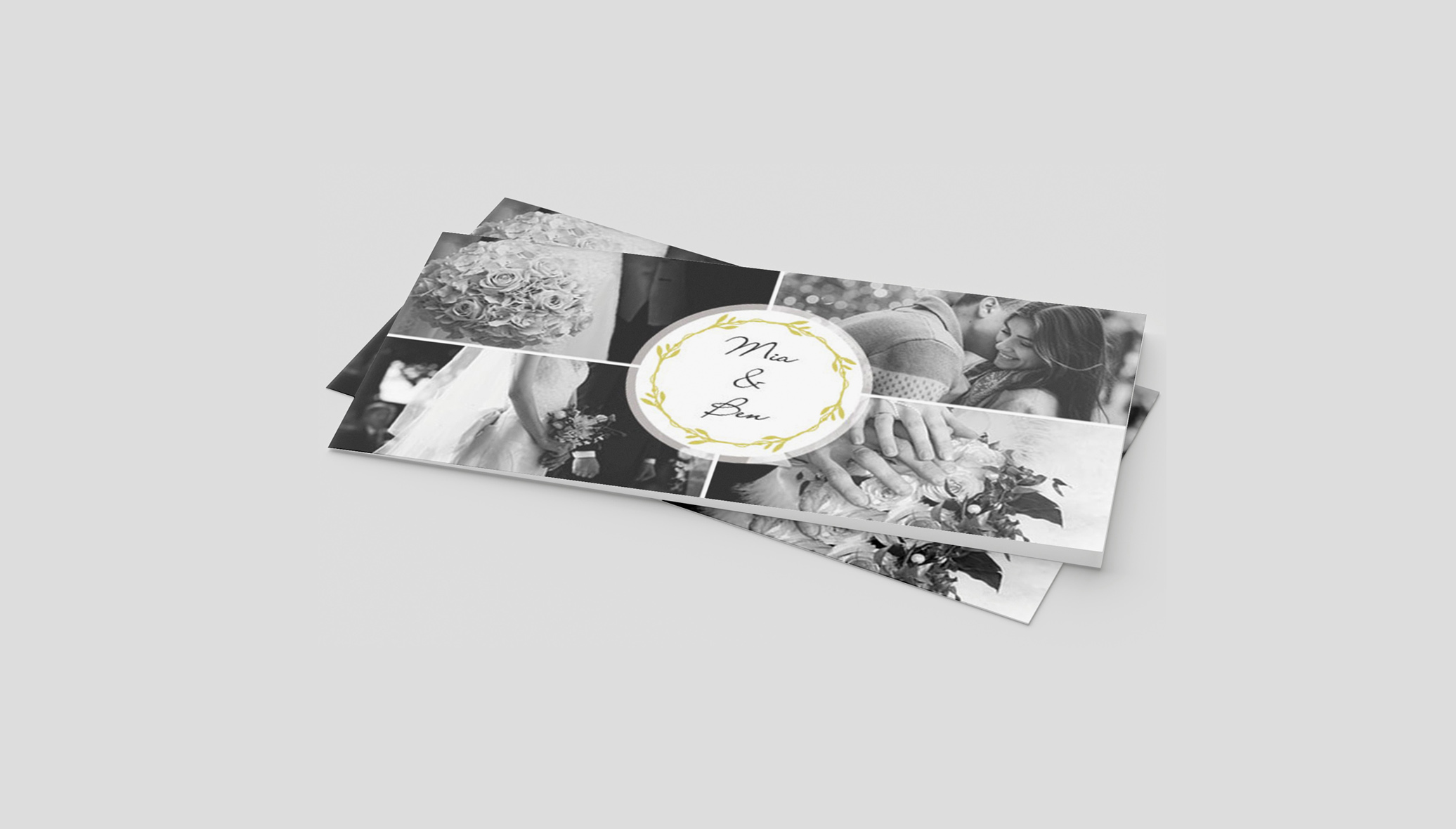 Einladungskarte Hochzeit Fotocollage