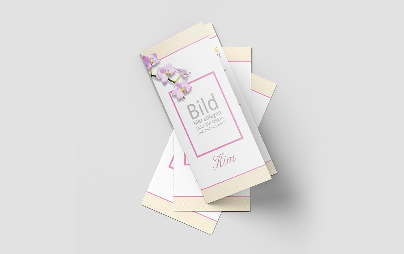 Einladungskarte Kommunion Orchideenzweig