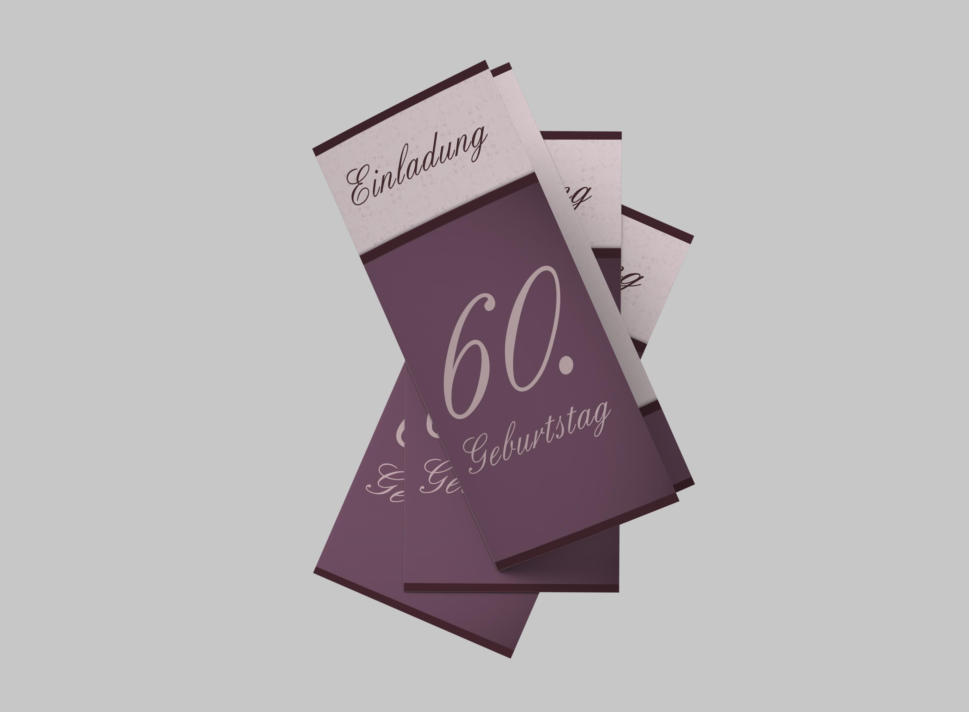 Einladungskarte Geburtstag Elegante 60
