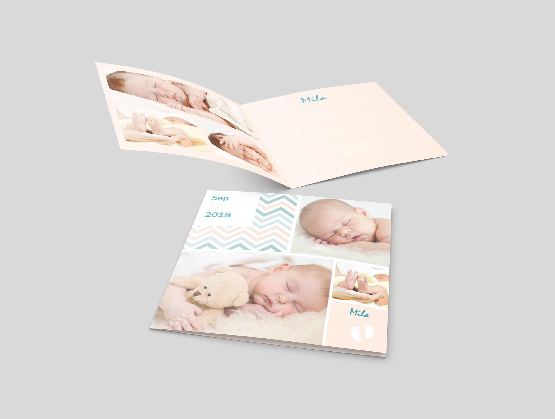 Babykarte Pastelltraum