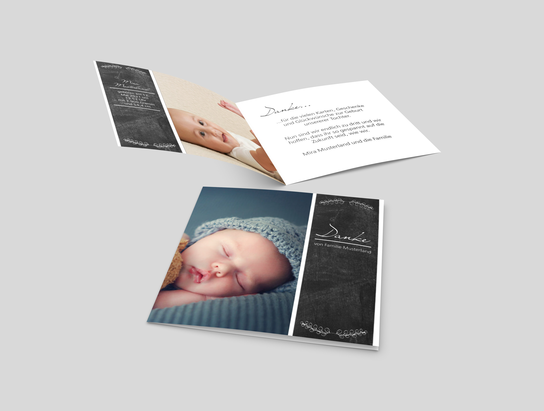 Babykarte Schmale Tafel