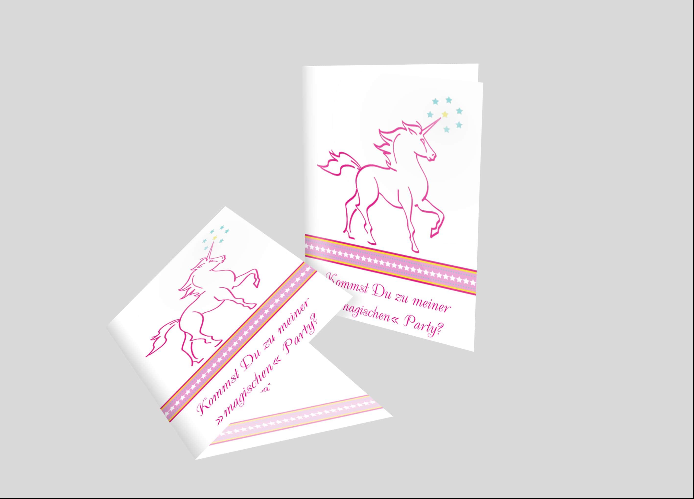 Einladungskarte Geburtstag Einhorn
