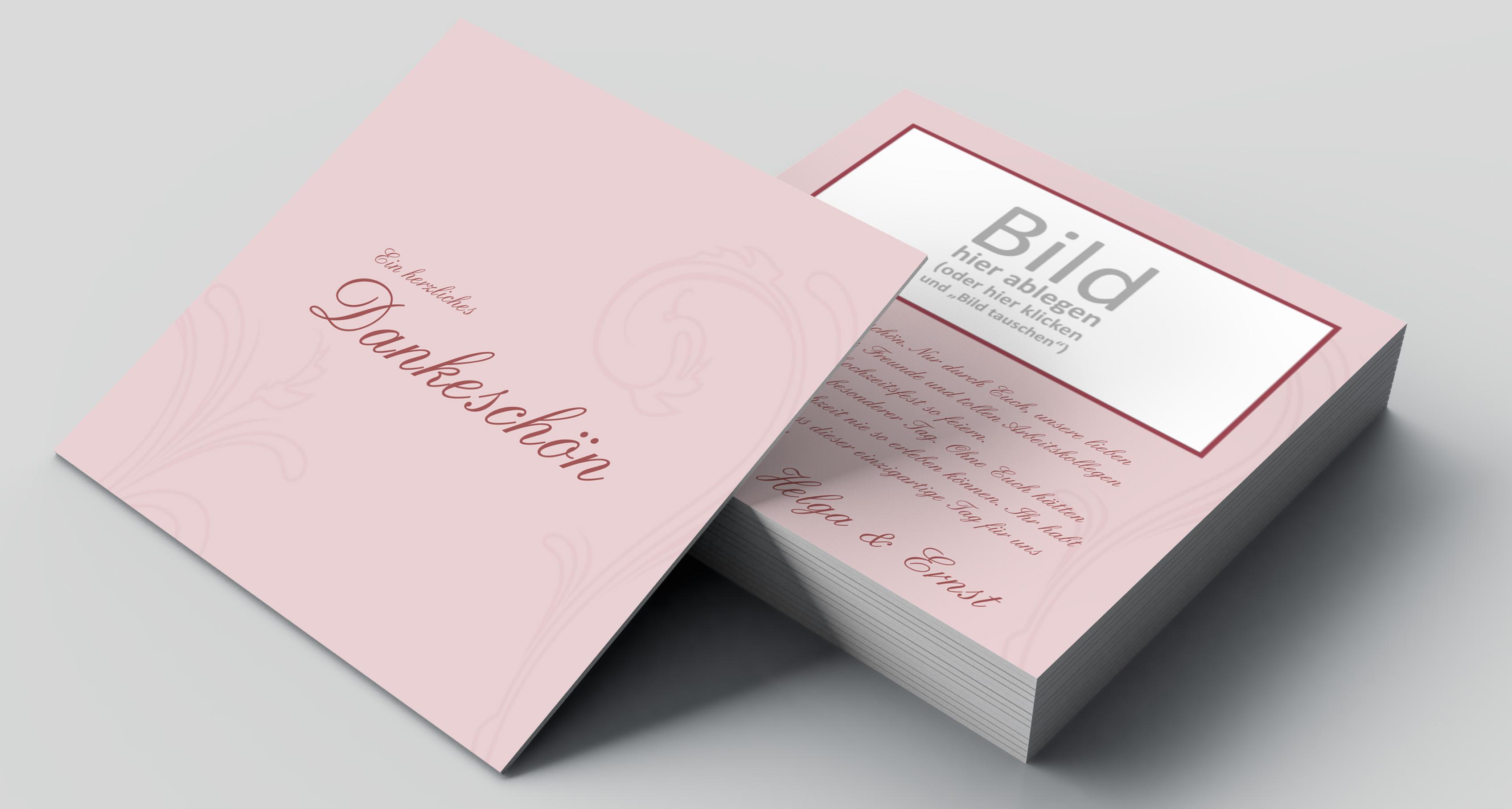 Danksagungskarte Goldene Hochzeit Blätter Zeichnung