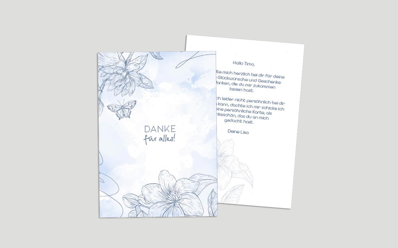 Dankeskarte Flower Paradies